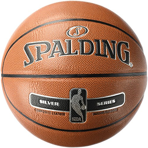 Spalding Uni NBA Silver in/out SZ.7 (76 – 018z) Basketball, Arancione, 7.0