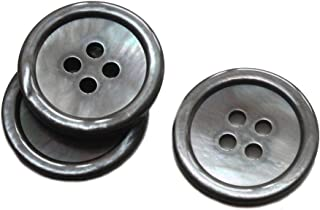 YaHoGa 22 Pieces Genuine Smoke Mother of Pearl Blazer Buttons Suit Buttons Set 20mm 15mm Natural Grey MOP Buttons Bulk for Men (Smoke MOP)
