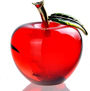 Waltz&F Crystal Apple Paperweight Craft Decoration (red)