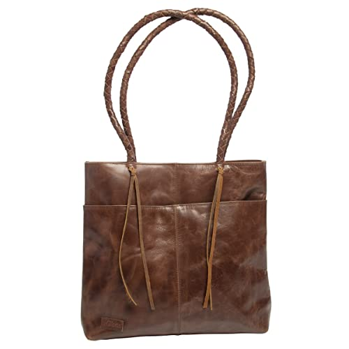 a2cba4e914cb All Asta Leather Lexington Tote Purse Large Handbag For Women With Strap  Brown