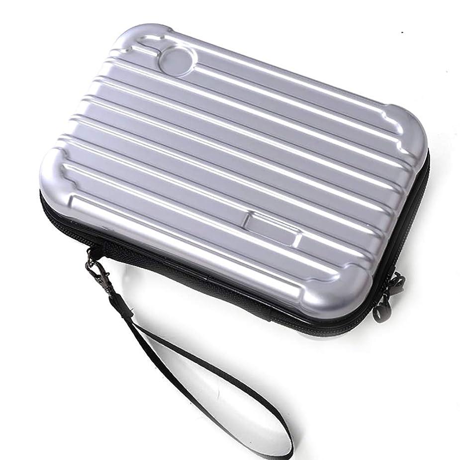 反抗終わった宿題Snner サコッシュ メンズ レディース ポーチ 化粧品 スーツケース 型 ミニ 旅行 バッグ アイコス スマホ 通帳 ケース #1