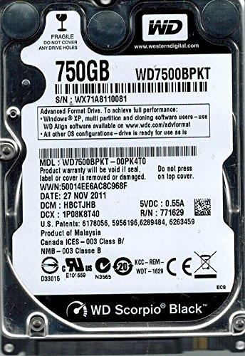 Western Digital wd7500bpkt-00pk4t0750GB DCM: hbctjhb