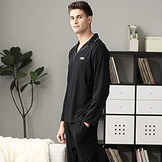 XCTLZG Mens Long Sleeve Sleepwear Set,Men Pajamas Long Sleeve Male Pajama Set Cotton Pajamas For Autumn Sweatpants Casual ...