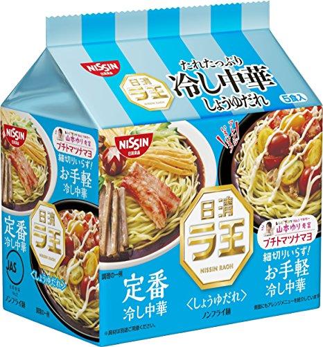 日清ラ王袋 冷し中華 しょうゆだれ5食パック 600g×6袋