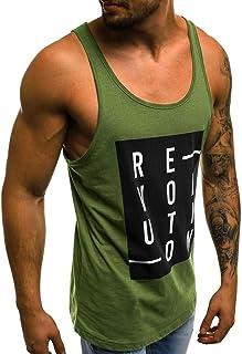 Tank Tops Mens Summer USA Flag Printed Slim Sleeveless Vest Hoodie Bodybuilding Stringer Gym Tank Top Blouse by Sunyastor