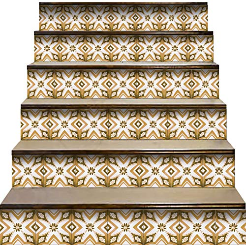 Mi Alma Calcomanías para azulejos de pared para escaleras, diseño escandinavo (24 unidades)