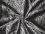 Brokat-Stoff in Schwarz und Silber, 111,8 cm – Hobbys,