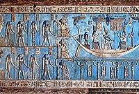 HD 7x5ftエジプトの象形文字の彫刻写真の背景古代エジプトの寺院遺跡考古学壁フレスコ宗教ファラオの女神彫刻背景写真スタジオの小道具