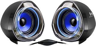 Woxter SO26-056 Big Bass 70 - Altavoces para PC, Mando de Control De Volumen, 15 W de Potencia, Conexiones 3.5 Mm, Usb, Óptimo para PC/Smartphones/Videoconsolas, color Negro/Rojo