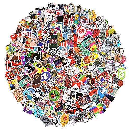 Aufkleber 500 Stück Laptop Aufkleber Auto Motorrad Fahrrad Gepäck Aufkleber Graffiti Patches Skateboard Aufkleber für Laptop - No-Duplicate Sticker Pack
