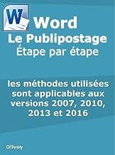 Livres Word Le Publipostage Étape par étape PDF