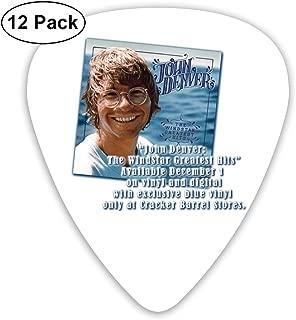 SteveMarke John Denver Classic Cool Medium Picks, Perfect Gift For Guitar & Lover,acoustic Guitar, Mandolin, And Bass Guitars (ABS 12 Pack,3 Specifications)