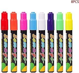 liumiKK 8 Colors Highlighter Fluorescent Liquid Chalk Marker Neon Pen for LED Writing Board Blackboard Glass Painting Graffiti Office Supply