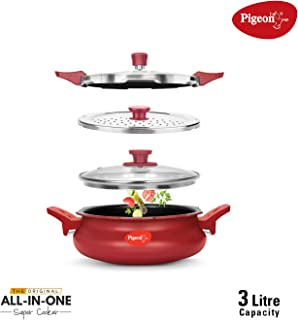 Pigeon All In One Super Cooker 3 Litres 3 IN Red