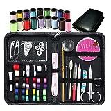 Juego de 58 piezas de costura con tijeras de hilo y agujas de coser accesorios para el hogar herramientas para principiantes DIY amantes