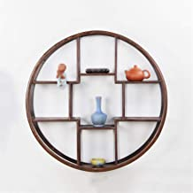 Solid Wood Wall-mounted/Wall Shelves/Tea Shelf/Wall Hanging Racks/Antique Shelf/Counter Display Stand/Tea Room Decoration ...