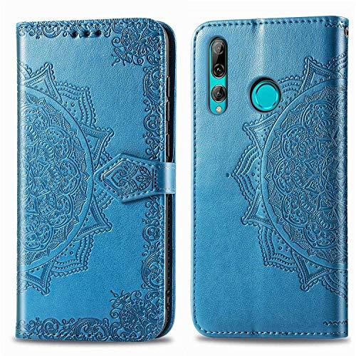 Bear Village Hülle für Huawei P Smart Plus 2019 / Huawei Honor 10I, PU Lederhülle Handyhülle für Huawei P Smart Plus 2019, Brieftasche Kratzfestes Magnet Handytasche mit Kartenfach, Blau