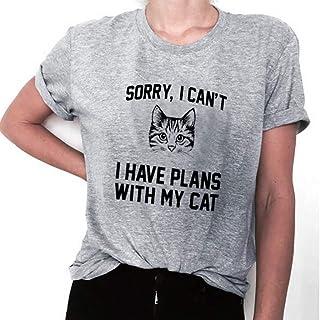レディース 半袖 Tシャツ YOKINO tシャツ レディース 半袖 猫柄 トップス カットソー Tシャツ ビッグシルエット カットソー 無地 運動服 カットソー バイカラー きれいめ 学生 レディースシャツブラウス体型カバー
