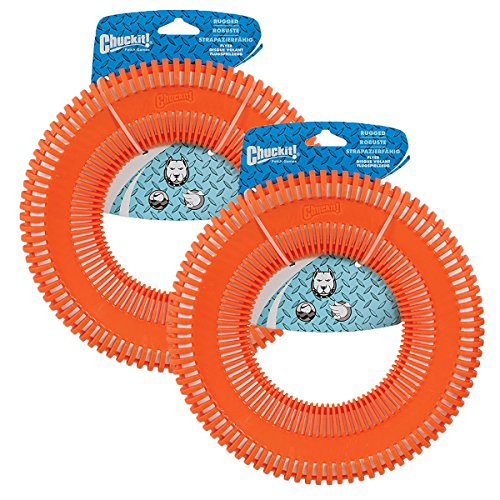 Chuckit! Rugged Flyer Dog Toy, Large (2 Pack)