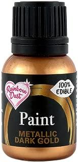 Rainbow Dust Edible Food Paint METALLIC DARK GOLD For Cake Decorating Sugarcraft