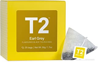 T2 Tea - Earl Grey Black Tea, 25 Teabags in Box