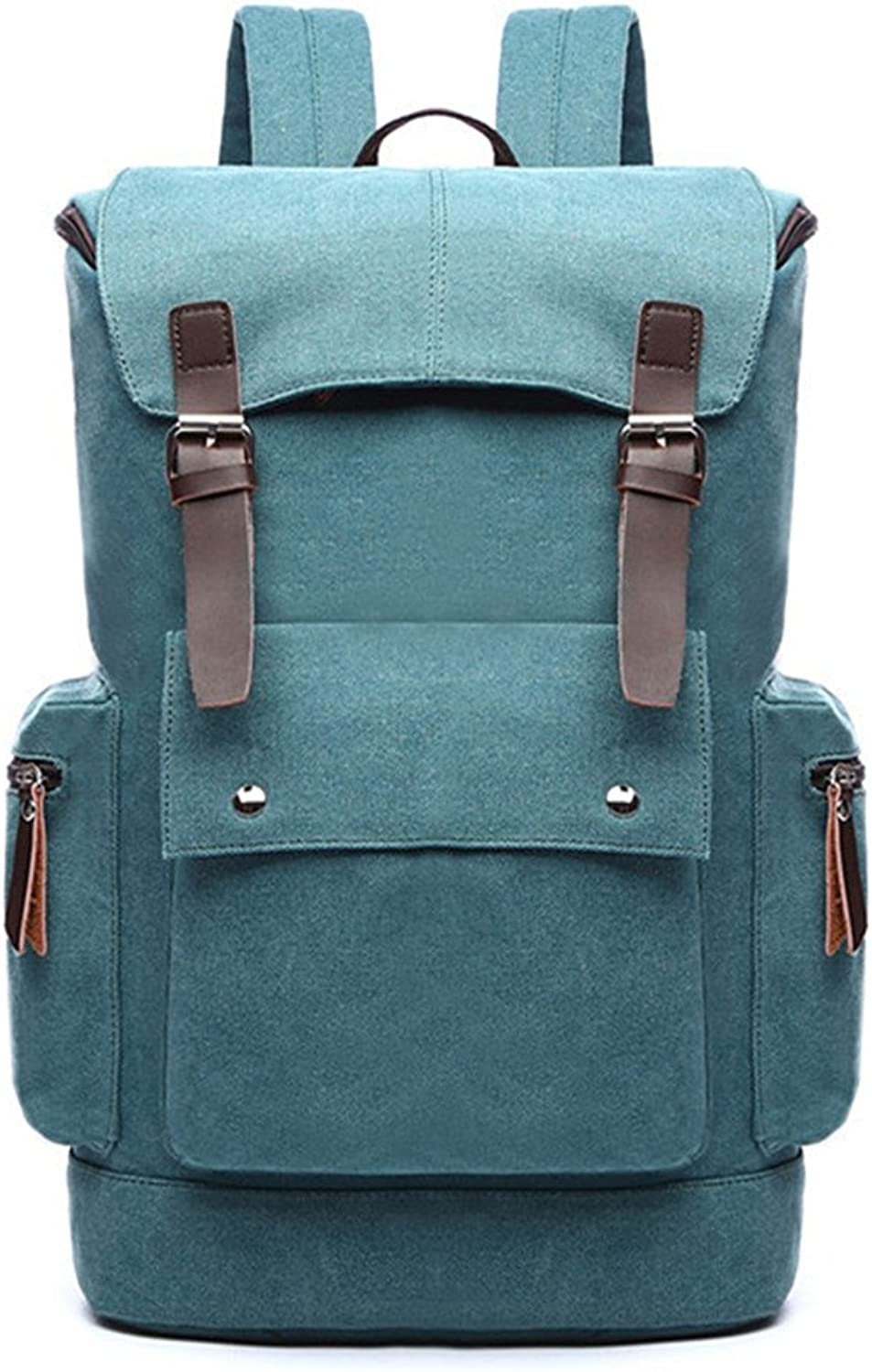 Backpacks Durable Canvas Hiking Backpack Outdoor Camping Leisure Travel MultiFunction Bag (color   Light Green)