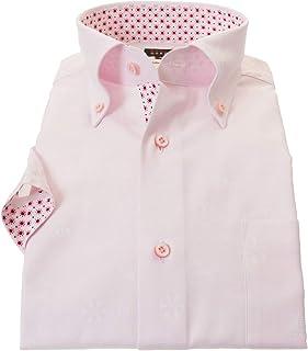 ドレスシャツ ワイシャツ カッターシャツ シャツ STYLE WORKS(スタイルワークス 半袖 綿:100% ボタンダウ 半袖ボタンダウン メンズ 柄シャツ 派手シャツ|RWN100-111