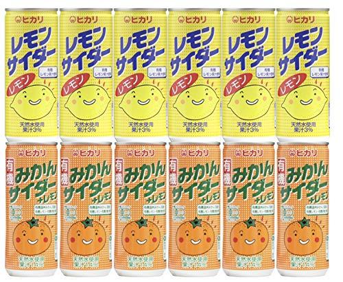 光食品 レモンサイダー (有機レモン使用)6本 + 有機みかんサイダー+レモン6本