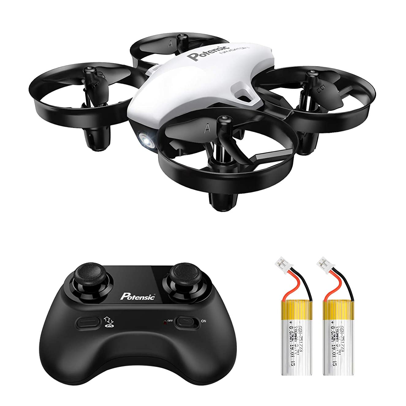 Potensic Upgraded A20 Mini Drone Easy to Fly Even to Kids and Beginners, RC Helicopter Quadcopter with Auto Hovering, Headless Mode and Extra Batteries