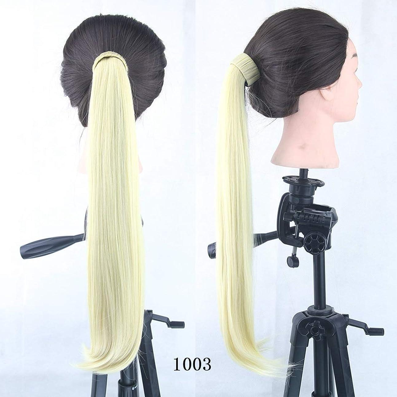 シャープ現金セットアップJIANFU マイクロボリュームの破片ポニーテール8色オプションのガールズ金属の破片ポニーテールストレートヘア (Color : Color 1003)