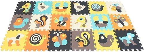 YFQ Krabbeldecke Baby Puzzlematte Kinderteppich Yogamatte Schaumstoffmatte Fitnessmatte Babyspielmatte
