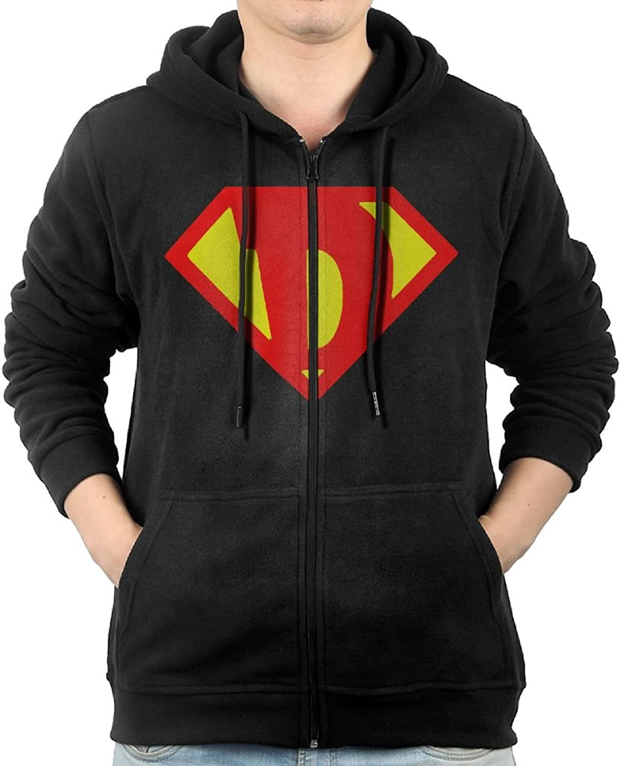 Super Cartoon Diamond Sweater Shirt Zipper Jacket Breathable Hoodie For Mens Fit Jogging Black