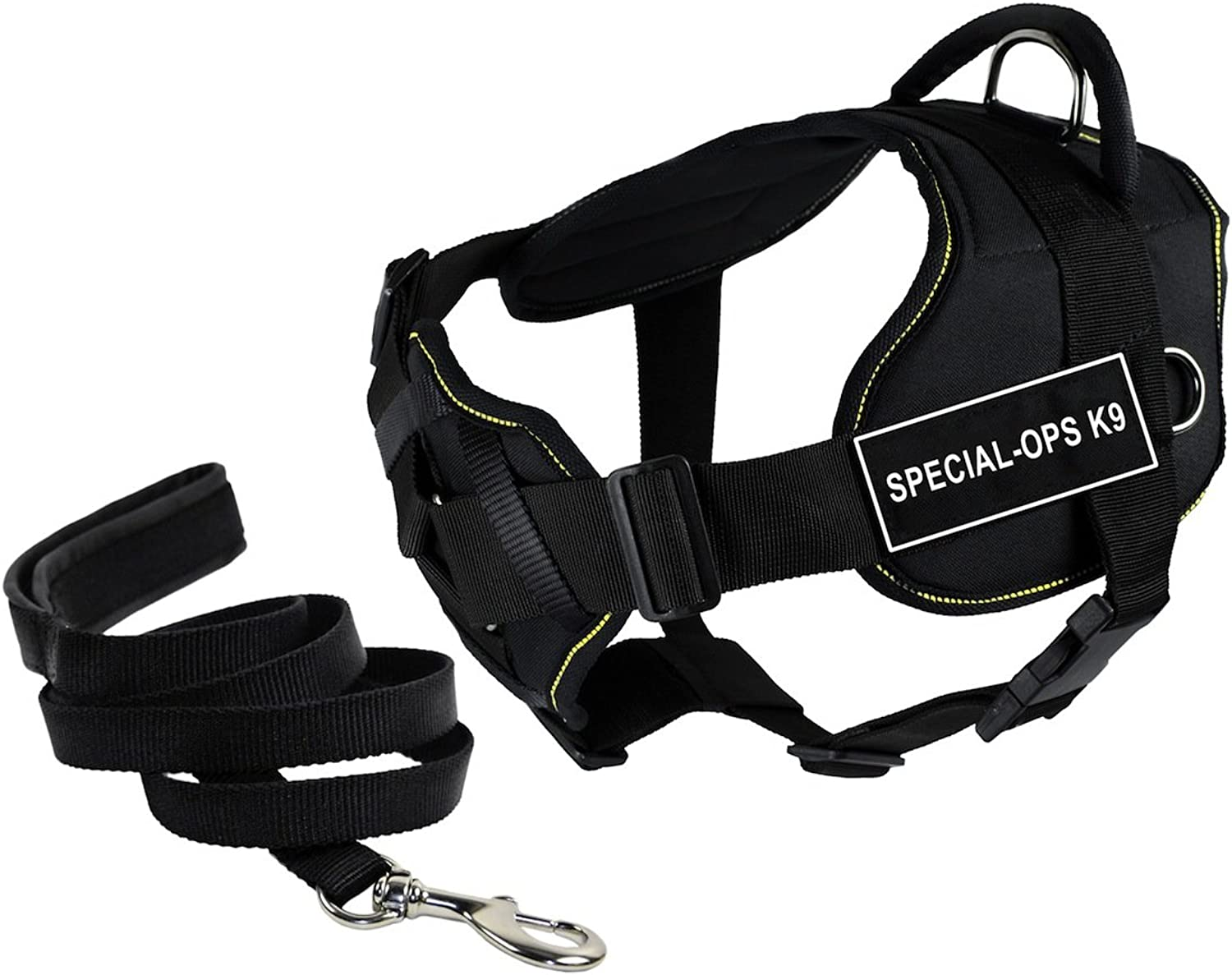 Dean & Tyler's DT Fun Chest Support SPECIALOPS K9 Harness, Small, with 6 ft Padded Puppy Leash.