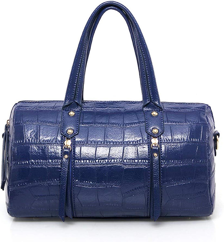 Wangkk Handtasche Umhängetasche Boston Geprägt Umhängetasche Handtasche, Blau B07MV9D7FB  Wir haben von unseren Kunden Lob erhalten.