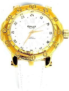 ساعة اوماكس للرجال - رياضية، متعددة الألوان، مينا ابيض - سوار من الجلد - مقاومة للماء - Beeb1239
