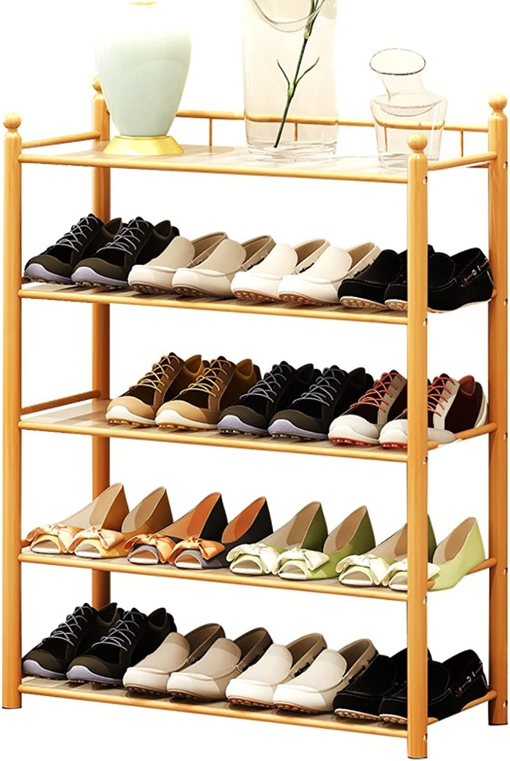 JIANFEI shoes Shelf Rack Dust Pad Multi-Layer Simple Storage Cabinet Bamboo (Size   68  24  87cm)