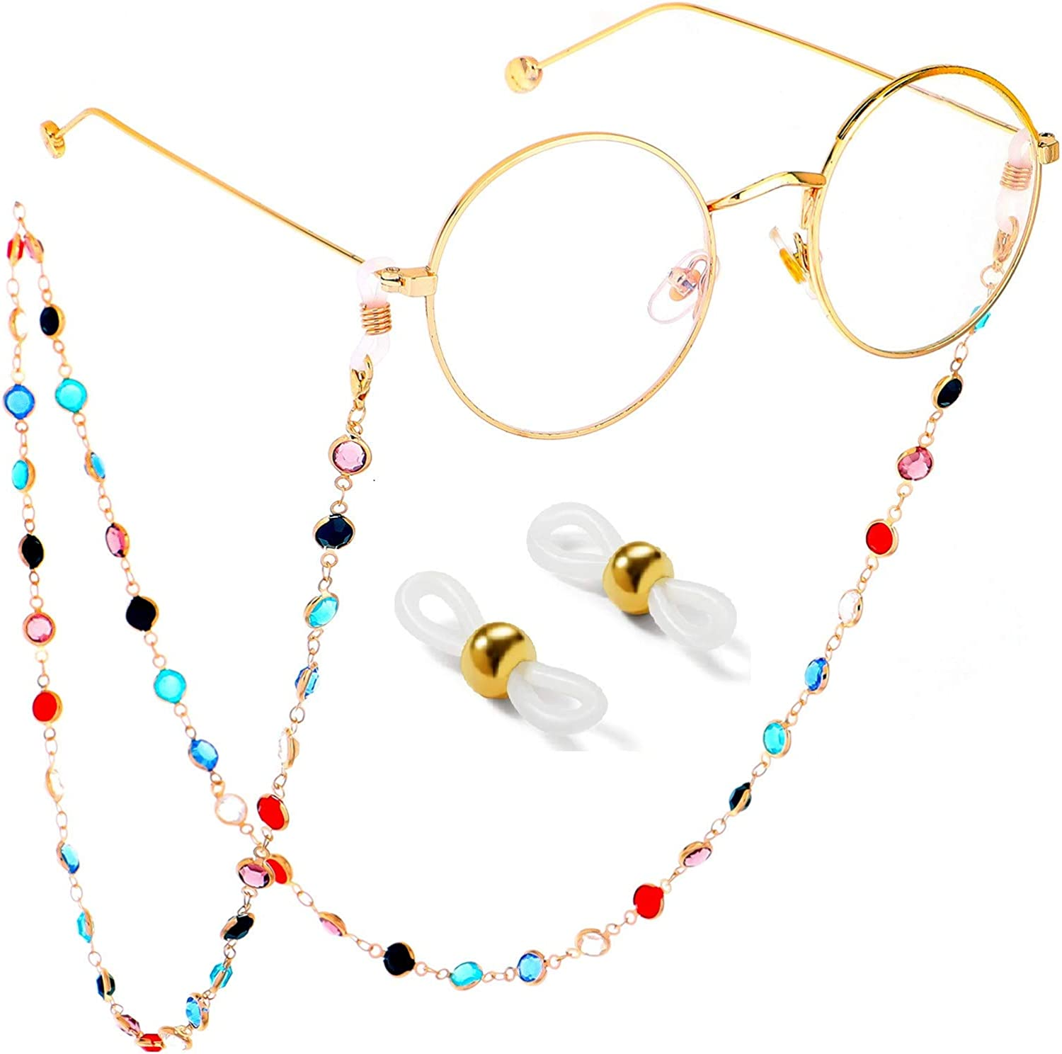VINCHIC Colorful Beaded Eyeglass 67% OFF of fixed price Chain Strap Sunglass Eye Memphis Mall Holder