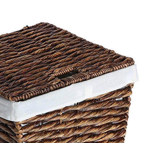 Casa Mina Wäschekorb Wäschebox Wäschesammler aus Wasserhyazinthe Brunei braun 61cm - 7