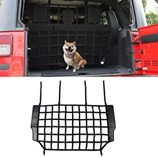 LZTQ Car Rear Trunk Isolation Network for Jeep Wrangler JK 2007-2017 JL 2018 2019 2020 2021 2022 Interior Accessories Barrier Safety Isolation Net Pet Protection