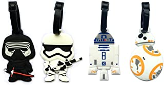"""5"""" Inspired 4pcs Luggage Tags Charms kylo ren BB8 Stormtrooper R2D2"""