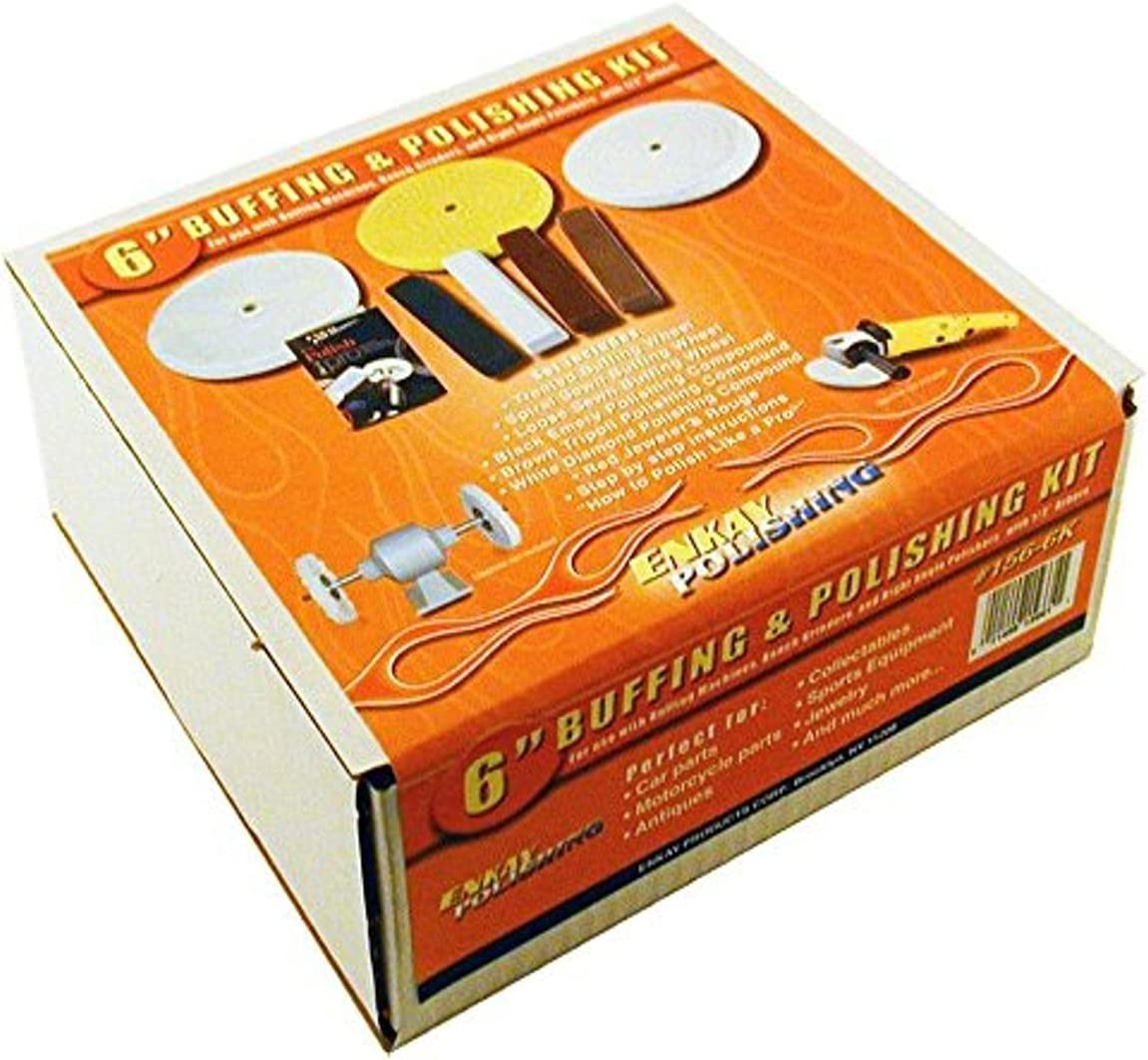 Max 56% OFF Cheap SALE Start Enkay 156-6K 6-Inch Buffer Box and Kit Polishing