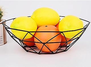Yaosh Kosz na owoce modny czarny okrągły ażurowy metalowy dekoracyjny koszyk na owoce chleb przechowywanie owoców warzywa ...