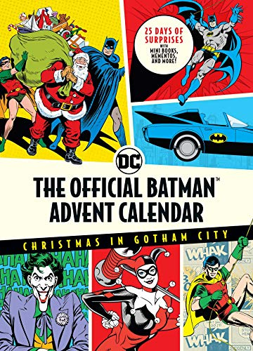 The Official Batman(tm) Advent Calendar: Christmas in Gotham City: 25 Days of Surprises with Mini Books, Mementos, and More! (Batman Books, Fun Holiday Advent Calendar, Super Hero Gifts)