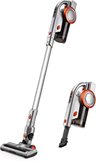 PUPPYOO Powerful Portable Rechargeable 2-in-1 Cordless Stick Vacuum Cleaner A9, Ultra Light Design, HEPA Filtration, 1.98KG