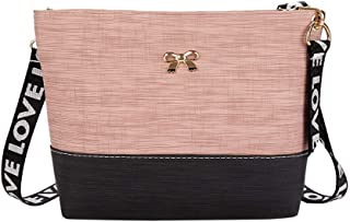 Wultia - Bags for Women 2019 Women Leather Shoulder Bag Messenger Satchel Tote Crossbody Bag Handbag Bolsa Feminina Pink