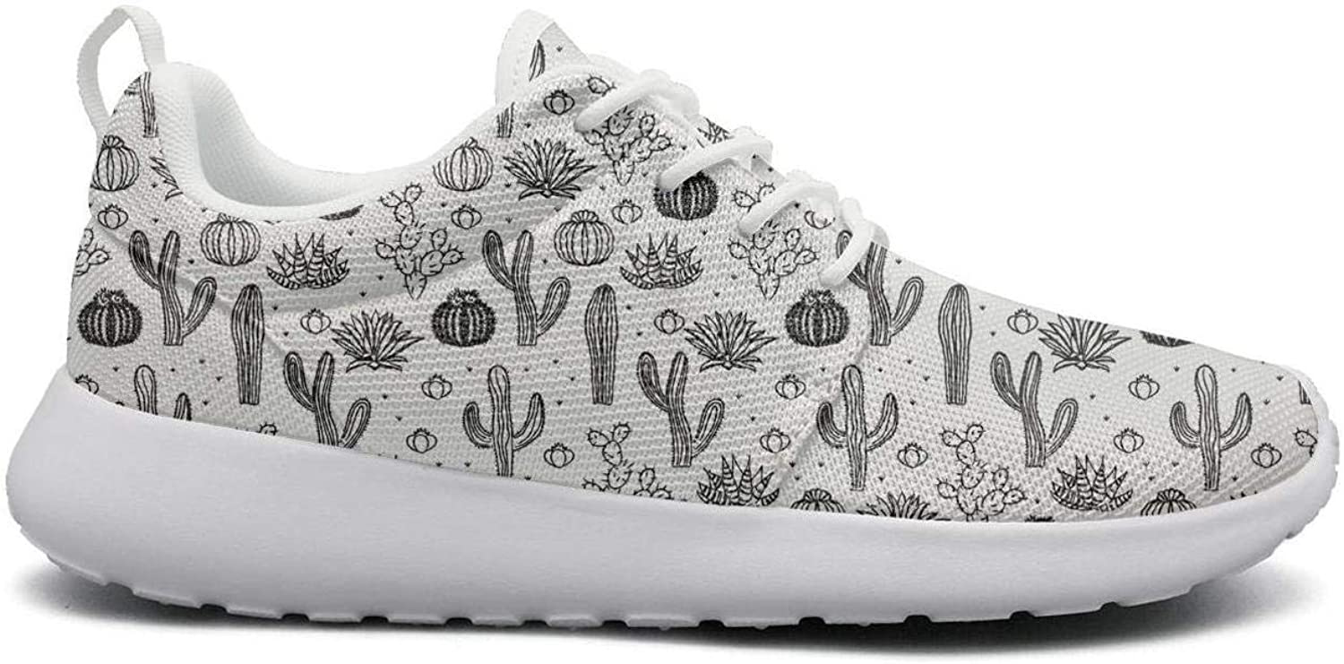 Wuixkas Cactus Baby Blossom Womens Lightweight Mesh Sneakers Cute Tennis shoes