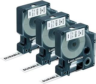 Label Orison-D1 Label Tape 45013 S0720530 Black on White 1/2 Inch(12mm) x 23 Feet(7m) Compatible with Dymo LabelManager 160 280 420 260P PnP 210D 360D,3 Cartridges