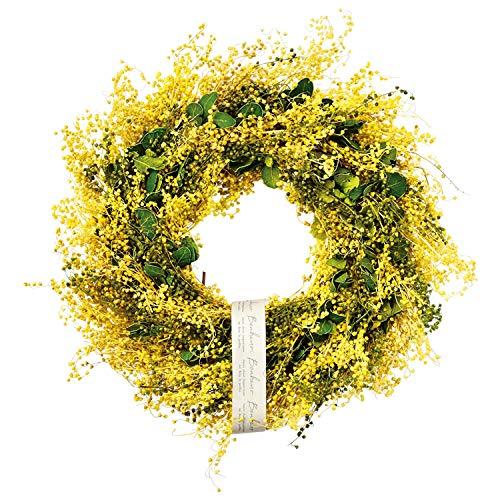 グリーンハウス(Green house) リース ナチュラルリース 4335-A L 帯 ミモザリース