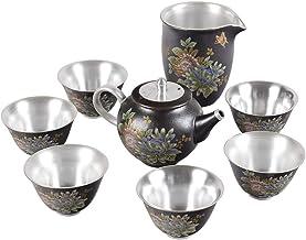 FACAIA Broiled bonus zestaw do herbaty piwonii zestaw herbaty opakowanie mieszkania (kolor: Kwitnący pełny księżyc czarny ...