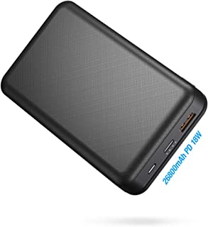 Portable Power Bank IEsafy 26800mAh PD 3.0, Type-C & Micro USB Inputs, 26800mAh Portable Charger USB-C Power Delivery (18W...